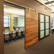 Bamboo Paneled Sliding Door Watts Engineering