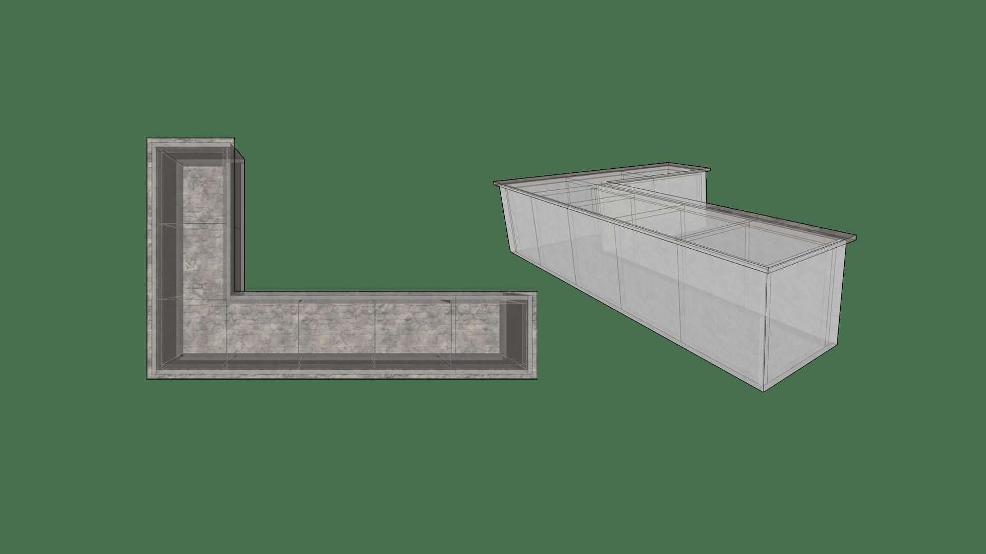 Large L-Shaped Shape Outdoor Kitchen Layout Configuration