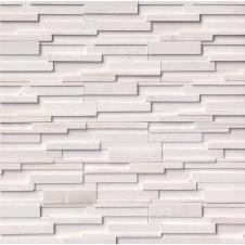 Arctic White 3D Honed Stacked Stone Sample