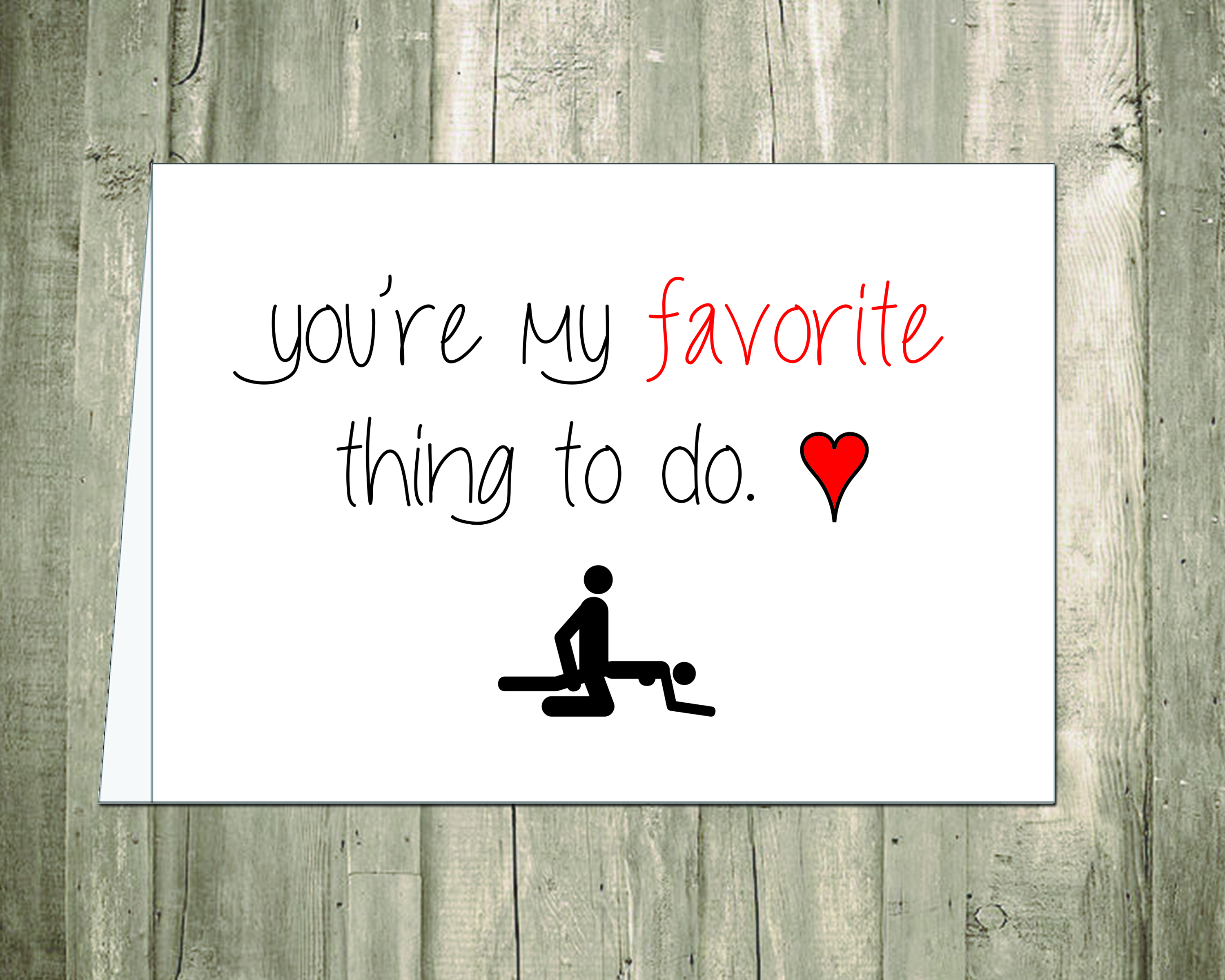 You Re My Favorite Thing To Do Card Any Occasion Card