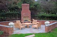Outdoor Brick Fireplace
