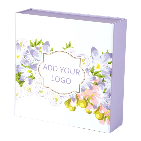 Custom Collapsible Gift Boxes Floral Logo 02