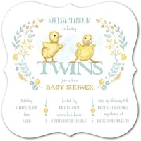 Baby Shower Ideas & Invitations for Twins & Multiples