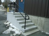 Exterior Stair Railings | Custom metal fences | Custom ...