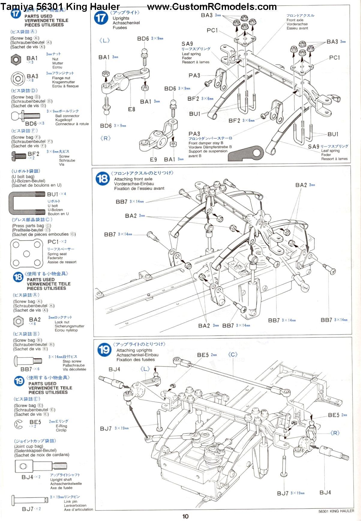 Tamiya 56301 King Hauler manual page 10