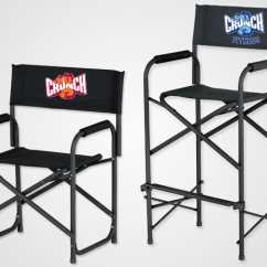 Customized Directors Chair Black Leather Swivel Custom Logo Chairs Tall Shelters E Z Up Canada