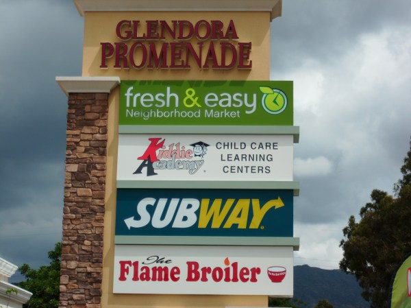 Kiddie Academy Glendora Promenade Shopping Center Sign
