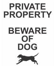 custom signs beware of dog yard sign