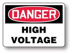 custom high voltage frankenstein halloween sign