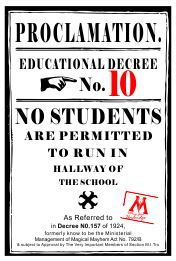 12x18 Proclamation #10 School Sign Custom Signs
