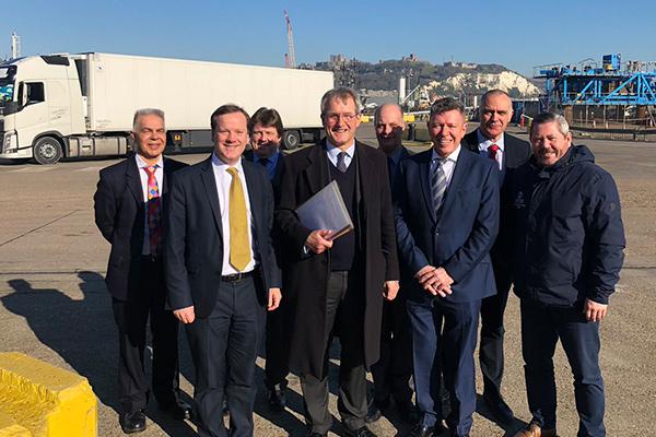 MPs Visit Customs Agencies At Dover