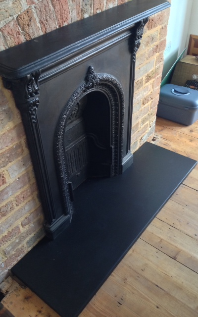 Custom Slate Hearths  Made to Measure Italian Black Slate Hearths