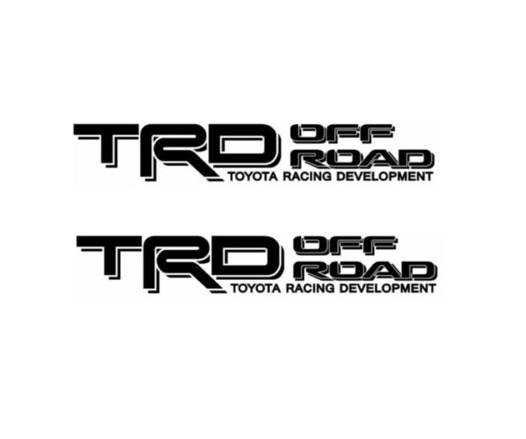Toyota TRD Off Road Decal Set Toyota Trd Stickers A2