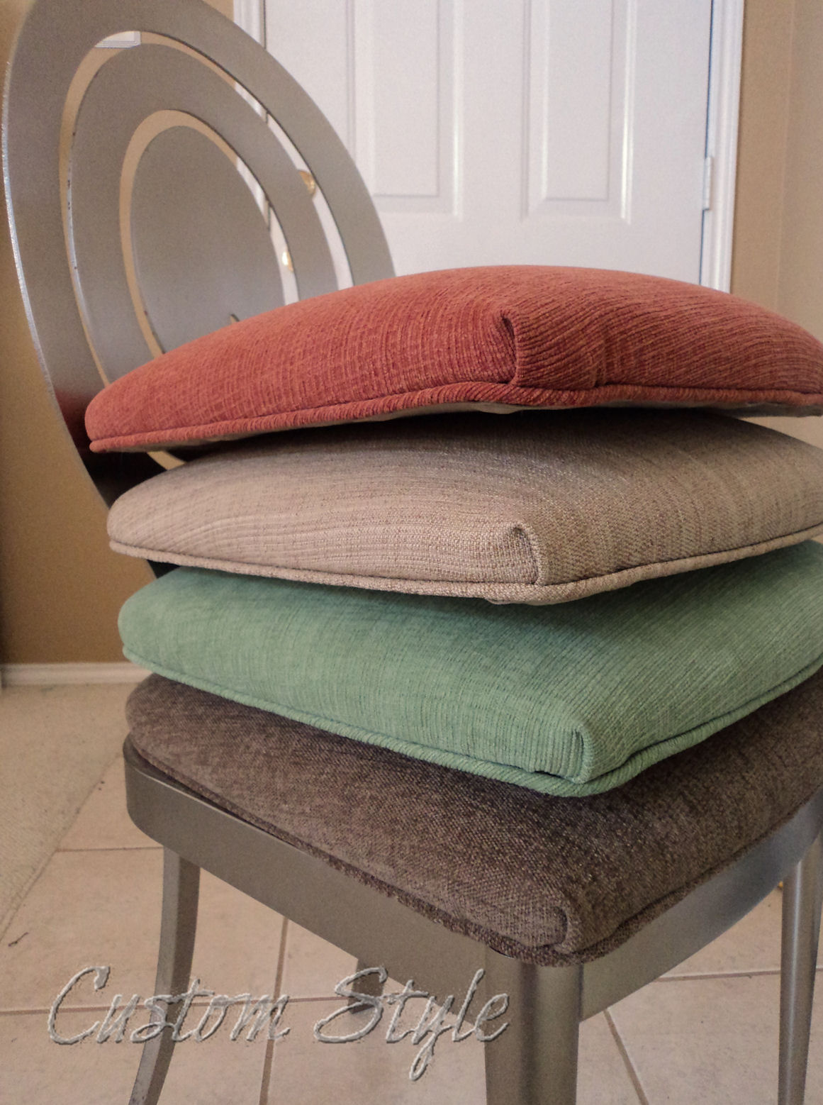 cheap seat cushions for chairs stickley brothers chair reupholstering dining custom style