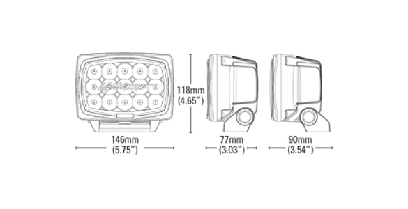 Striker Professional Edition LED Driving Lights Twin Pack