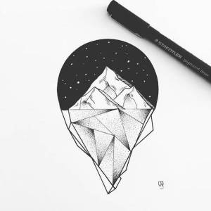 tattoo drawing iceberg sketch nature tattoos meanings instagram drawings draw designs illustration ice sketches geometric mountain line svartur eva paintingvalley