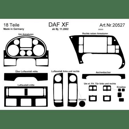 HABILLAGE TABLEAU DE BORD DAF XF 95 NOYER (DEPUIS 11-2002