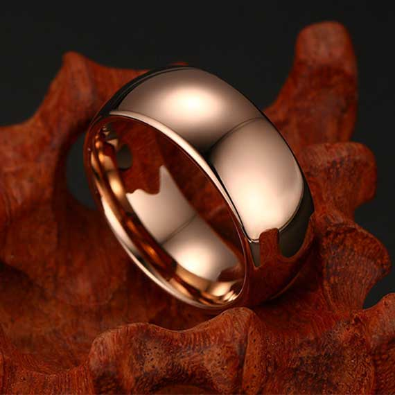 mens-8mm-polished-smooth-rose-gold-tungsten-ring-free-shipping