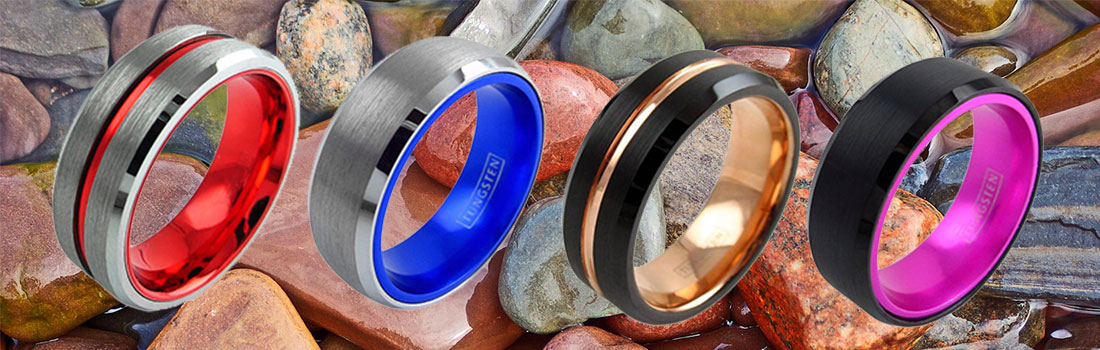Tungsten Wedding and Engagement Rings