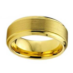 mens-8mm-gold-tungsten-ring-with-brushed-finish-and-stepped-edges