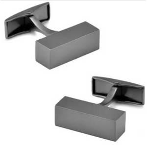 pair-mens-tungsten-frosted-cuboid-cufflinks-custom-custom-rings