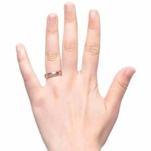 ladies 5mm gold tungsten wedding or engagement ring