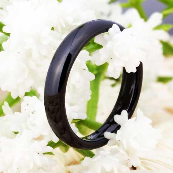 unisex 4 mm black tungsten ring