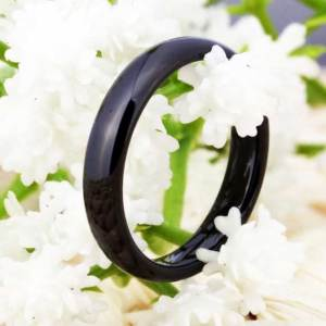 unisex 4 mm black tungsten ring