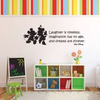 Vinyl Wall Decal Walt Disney Quote With Mickey Mouse ...