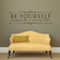 Vinyl Wall Decal Quotation Oscar Wild: Be Yourself ...