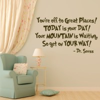Dr. Seuss Vinyl Wall Decal Quotation You're Off To Great ...