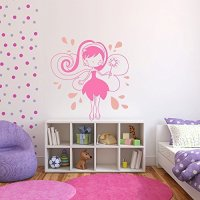 Cute Fairy Vinyl Wall Decal for Girls Room