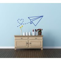Wall Decals for Kids Rooms - Paper Airplane Vinyl Wall ...