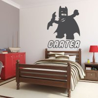 Personalized Wall Decals - Lego Batman with Name Below ...