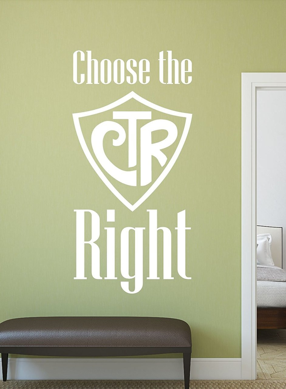 Christian Wall Decals  CTR  Choose the Right
