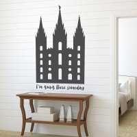 LDS Wall Decal - Salt Lake Temple Wall Art ...