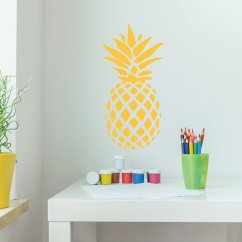 Pineapple Decorations For Kitchen Island With Stainless Steel Top Decor Vinyl Wall Decal Hawaiian
