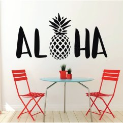 Pineapple Decorations For Kitchen Quartz Sinks Aloha Wall Decal Sticker With Hawaiian Design