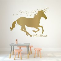 Unicorn Wall Decor Personalized Vinyl Decal For Girls ...