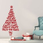 Christmas Tree Wall Decal Made Vinyl Decor Wall Decal