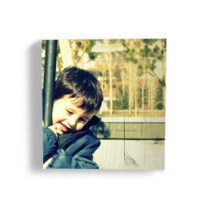 Cuadro foto en madera 30x30 de palet