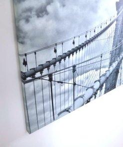 lienzo panoramico puente de Brooklyn