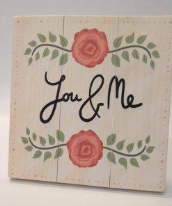 Rústico San Valentin cuadro you and me