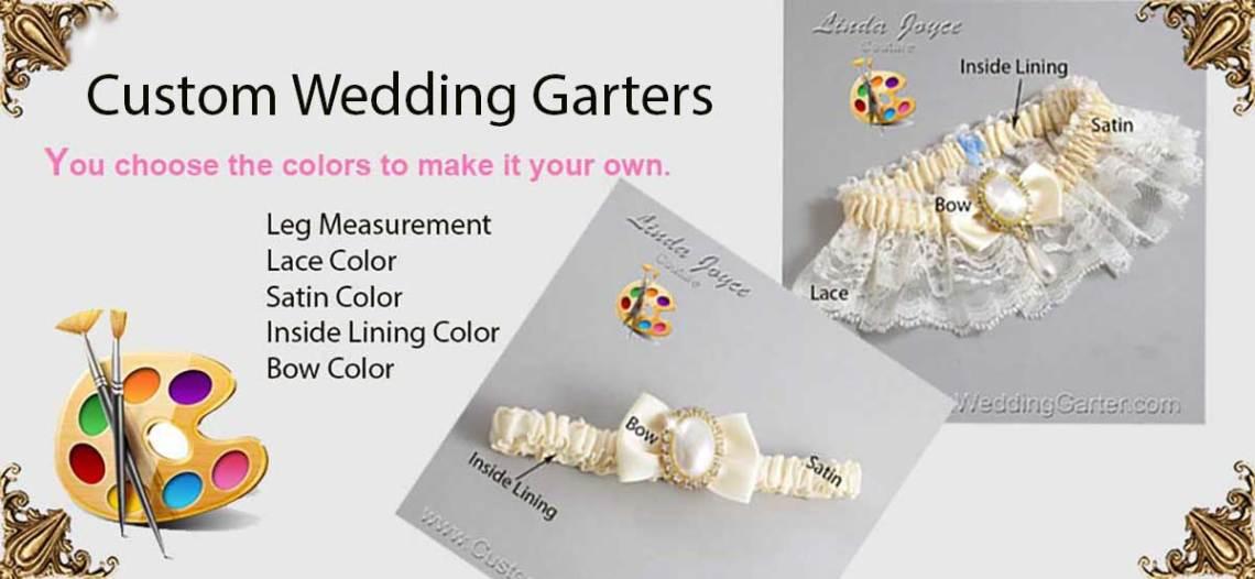 Customized Wedding Garters, Bridal Garters, Prom Garters. Custom Garters