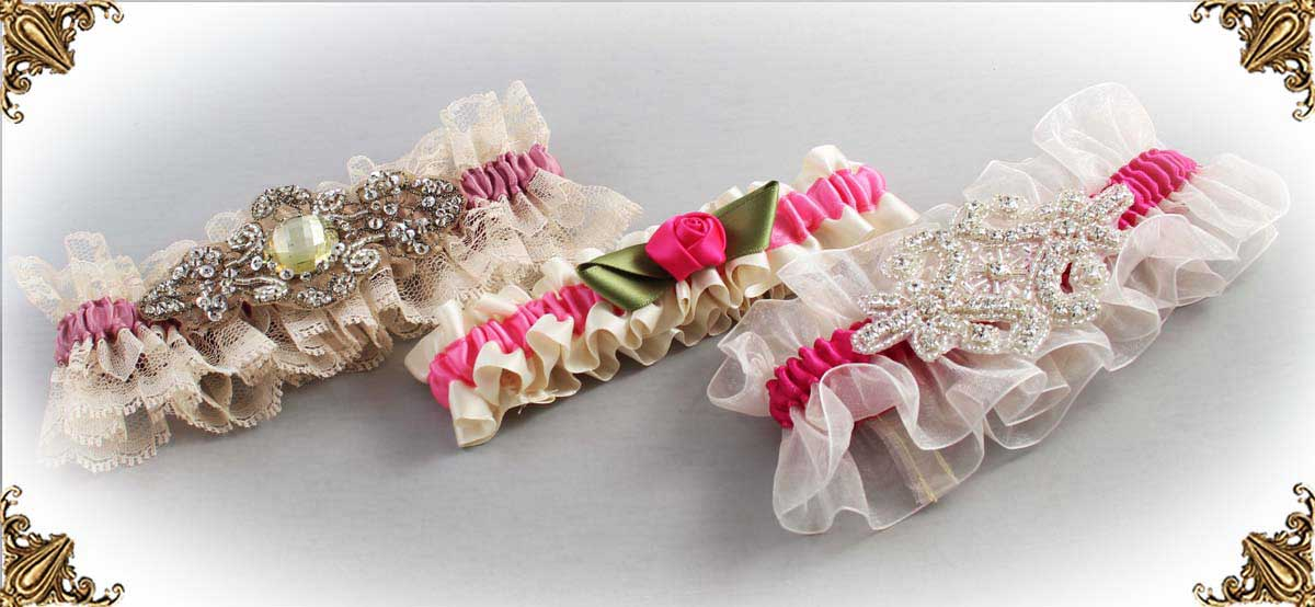 Ivory-and-Pink-Wedding-Garters-Bridal-Garter-Prom-Garters-Custom-Wedding-Garter-Linda-Joyce-couture