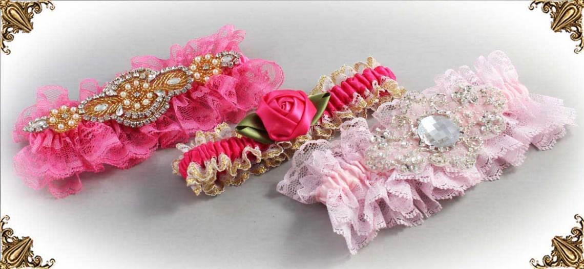 Pink-Wedding-Garters-Bridal-Garter-Prom-Garters-Custom-Wedding-Garter-Linda-Joyce-couture