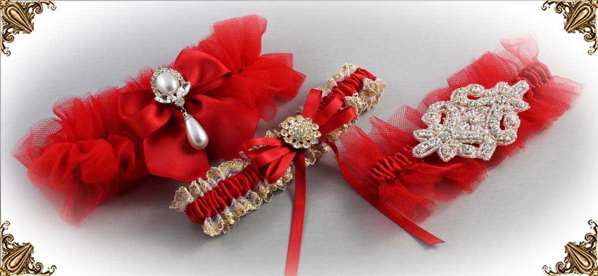 Red-Wedding-Garters-Bridal-Garter-Prom-Garters-Custom-Wedding-Garter-Linda-Joyce-couture