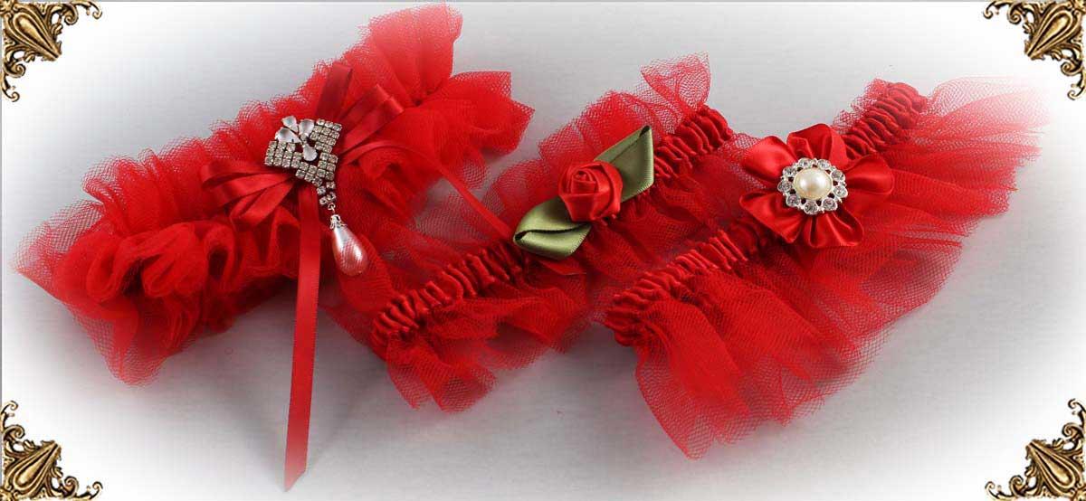 Solid-Red-Wedding-Garters-Bridal-Garter-Prom-Garters-Custom-Wedding-Garter-Linda-Joyce-couture
