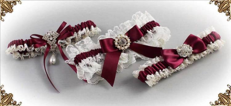 332-Wine-Wedding-Garters-Bridal-Garter-Prom-Garters-Custom-Wedding-Garter-Linda-Joyce-couture
