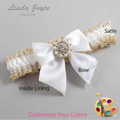Customizable Bow Heirloom Wedding Garter